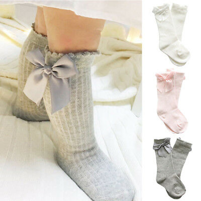Socks Baby Knee High Girls Bows Leg Long Cute Tube Kids Warmer Cotton Bow Lace