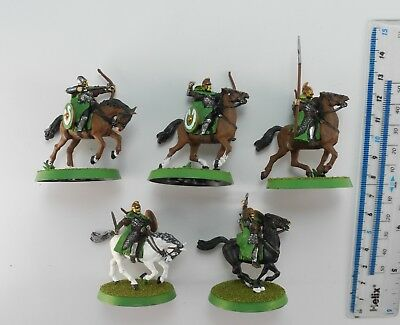 5 RIDERS OF ROHAN Plastic Lord of the Rings LOTR Good Army Cavalry Painted 8