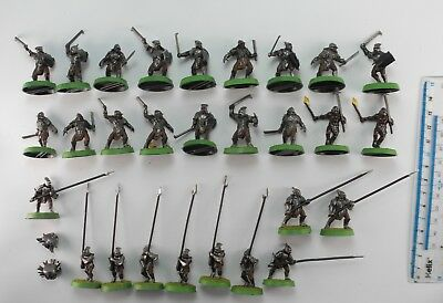 28 URUK HAI Plastic Lord of the Rings LOTR Evil Army Painted Warhammer 10