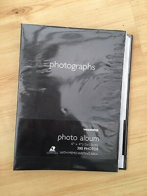 **BRAND NEW PHOTO ALBUM BLACK SOFT TOUCH - fits 300 6x4 PHOTOS**