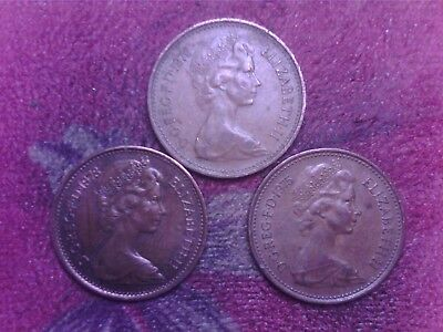 Great Britain   One   Penny   1975 1976 1978