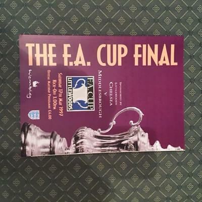 1997 FA Cup Final Chelsea v Middlesbrough