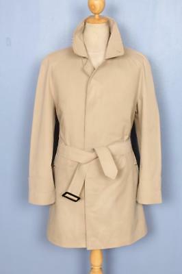 Mens BURBERRY Single Breasted Short TRENCH Coat Mac Beige Size 38/40