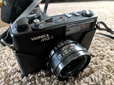 Vintage Yashica MG-1 35mm Film Camera In Case
