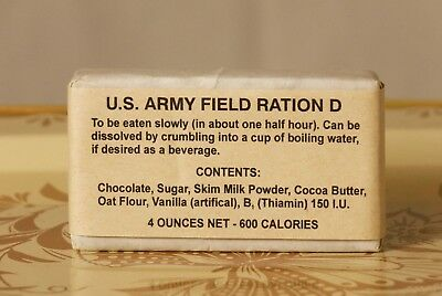 US Army Field Ration D, WWII or Vietnam Era
