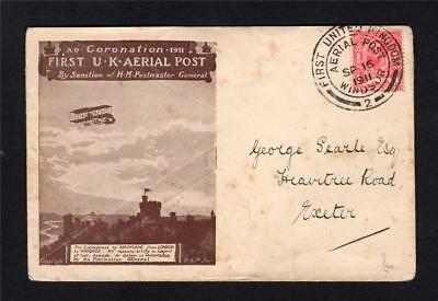 First Aerial Post Envelope Used
