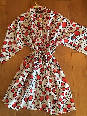 Vtg Men's /Women's JC Penney's Towncraft Red/Blue Kimono Wrap Robe Polyester