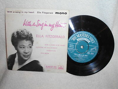 """7"""" Ep Ella Fitzgerald -- With A Song In My Heart"""