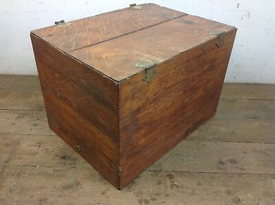 Vintage Oak Chest Trunk Old storage