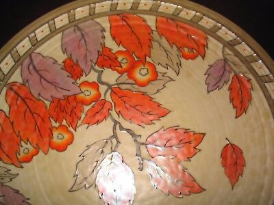 Large Ducal Art Deco Pottery Charger Charlotte Rhead 14 Inches