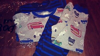 2 x Mini Boden Boys Long John Pyjamas / PJs, 6 years
