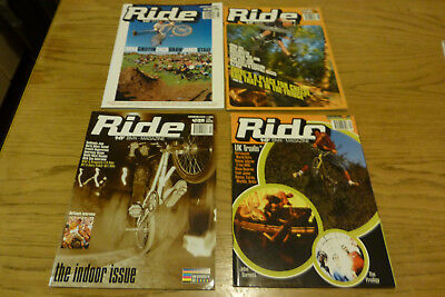 Ride UK BMX Magazine Collection four issues 1997