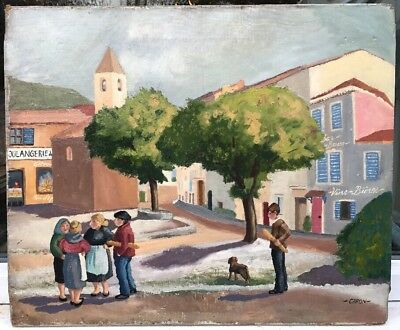 1940s FRENCH IMPRESSIONIST OIL PAINTING ON CANVAS by George Capon  signed