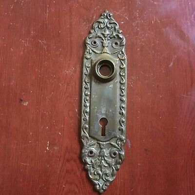 Antique Victorian Door Back Plate Brass   Beautiful Design #1
