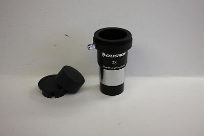 """Celestron 1.25"""" 2x Telescope Barlow Lens with T Adapter Astro photo imaging NEW!"""