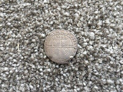 Rare 1583 Great Britain Queen Elizabeth I Silver Shilling Hammered Coin