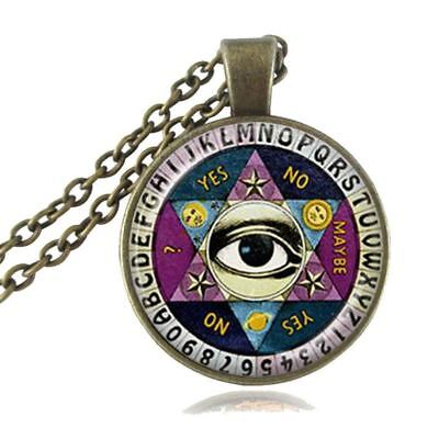VERY COOL UNIQUE GLASS DOME Ouija Board Pendant Necklace