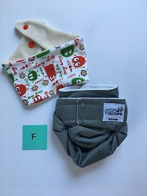 Softbums Echo All-In-2 Cloth Diaper Shell w/Velcro - Moonlight (lot F)