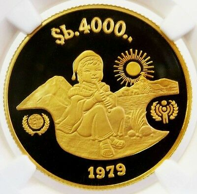 1979 Gold Bolivia 4000 Pesos Bolivianos Year Of The Child Ngc Proof 69 Ultra Cam