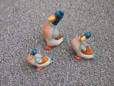 Set of 3 vintage Beswick ducks 919A 919B and 919C