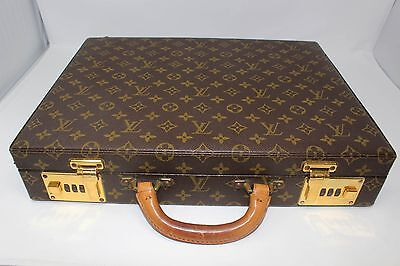 Estate Pre-Owned1988 Louis Vuitton Monogram Briefcase Attache Case Plat Presiden