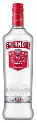 Smirnoff Red Vodka 1 Litre ea - Spirits - Origin New Zealand