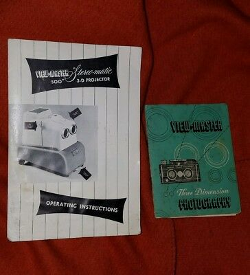View-Master stereo camera and viewmaster stereo projector booklets