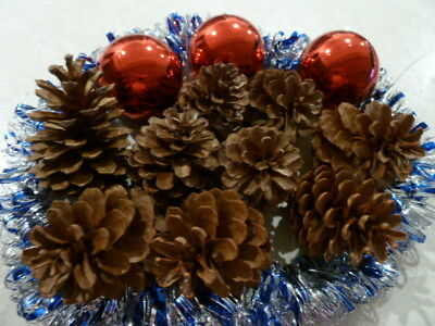 Pine Cones 48 @ 8cm EXPRESS POST Natural Pinecones Christmas Decorations