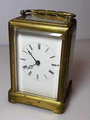 Early French Carriage Clock, One Piece Case,