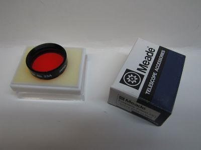 "1.25"" Meade LT Red #23A Telescope Eyepiece Filter Series 4000 Glass Coated NEW!"