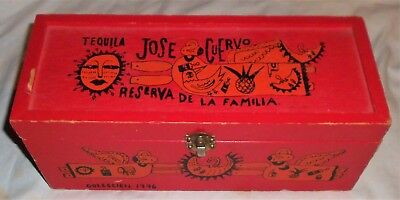 1996 Tequila Jose Cuervo Manuel Velasquez Red Wood Box Only