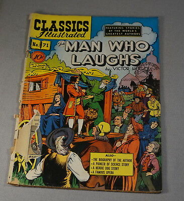 May 1950 Classics Illustrated Comic Book No. 71 The Man Who Laughs