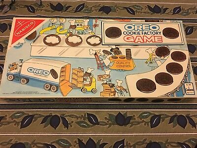 1987 Oreo Cookie Factory Board Game Complete Nabisco Cadaco 508