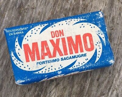 Don Maximo Detergent Soap. Stain Remover. Laundry Soap. Vintage. NOS.