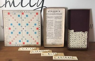 Vintage Scrabble Game - 1955 Edition - Murfett Pty Ltd + Travel Scrabble.