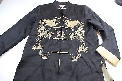 LaoGudai Oriental Asian Dragon Knot Tie Jacket Large L