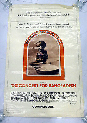 """The Concert For Bangladesh * Coming Soon * Original Movie Poster 1972  27"""" X 41"""""""