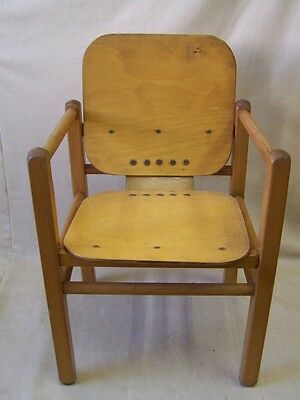 GDR Children's Chair, Heidi by Hans Brocken hage, Wood Chair