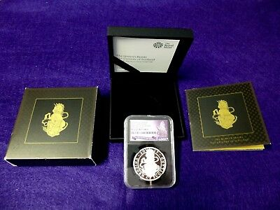 2017 Queens Beast Unicorn 1 Oz Silver Proof Ngc Pf69 Ultra Cameo Early Release