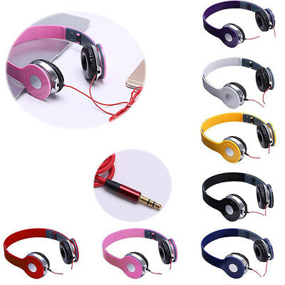 3.5Mm Stereo Headphones Dj Style Foldable Headset Earphone Over Ear Mp3/4 Hot!!!