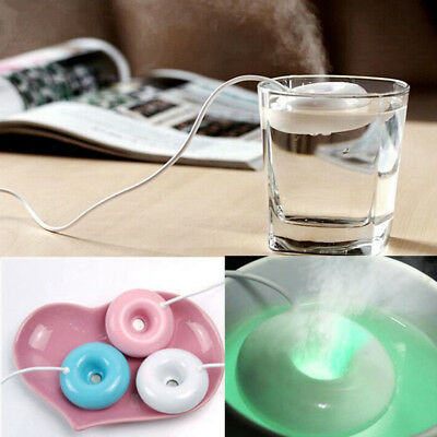 3 Colors Home Office USB Donuts Humidifier Air Fresher Floats Ultrasonic Sprayer