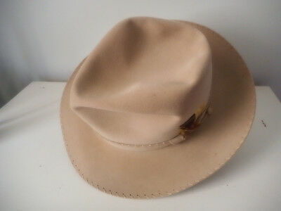 BEAUTIFUL '50-'53 STETSON 3X SUEDE FINISH GAY PRINCE CLONE, Silverbelly, 7 1/8