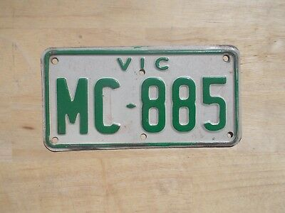 License plate Number plate VICTORIAN MOTORCYCLE