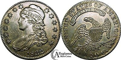 1832 50c Capped Bust Half Dollar AU+ MS BU UNC small letters rare old type coin
