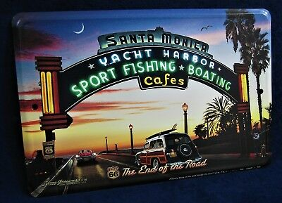 Route 66 End of the Road - *US MADE* Full Color Sign - Man Cave Garage Bar Decor