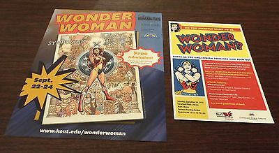 Wonder Woman Symposium Flyers 2016 Cleveland, Oh Rare And Unique!!