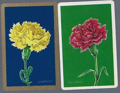 Swap Playing Cards  FLOWERS Carnations