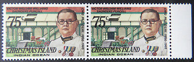 1978 Christmas Island Stamps - Famous Visitors Definitives - Double 75c-Tab MNH