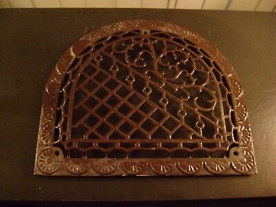 Antique Ornamental Cast Iron Arched Heating Vent Grate Cover