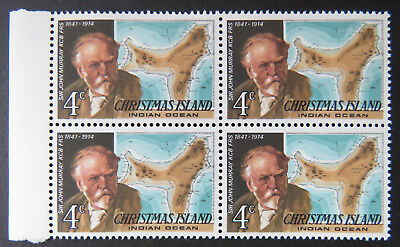1978 Christmas Island Stamps - Famous Visitors Definitives - Block 4x4c-Tab MNH